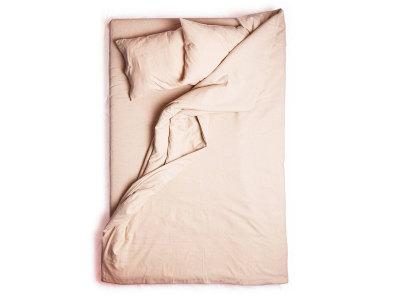 Dusty rose linen duvet cover Single 140x200cm
