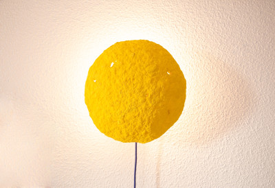 Eclipse Wall Sconce Light Yellow Eclipse