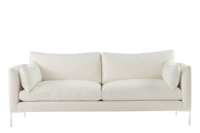 Ellis 2 Seater Sofa White