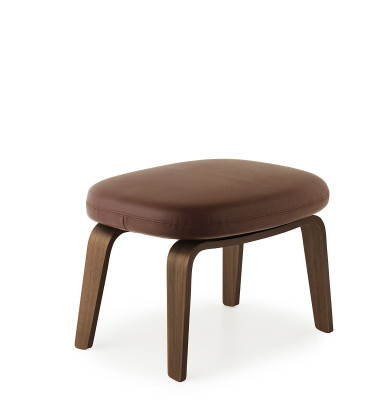 Era Footstool - Wooden Legs Tango White - 41594, Walnut
