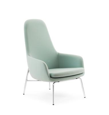 Era High Lounge Chair - Steel Legs Fame 60005, Silver