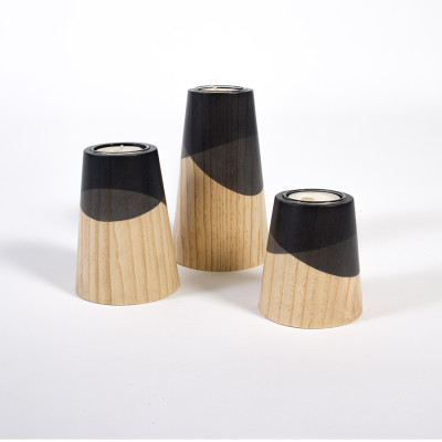 Etna Mini Candle Holders Black