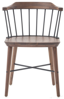 Exchange Dining Chair Natural Ash and Stainless Steel