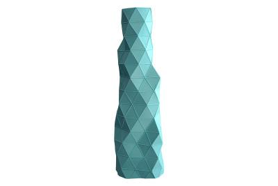 Faceture Bud Vase/Candleholder Blue