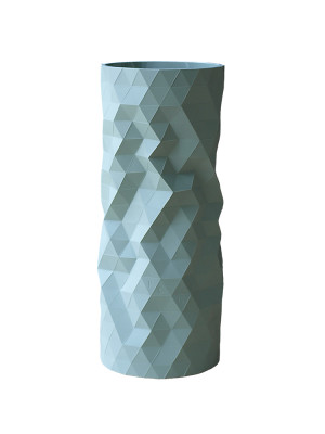 Faceture Straight Tall Vase Sage
