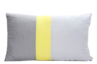 Fancy Cushion Grey, Yellow