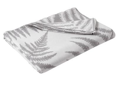 Fernature Merino Throw Pure White and Silver Grey