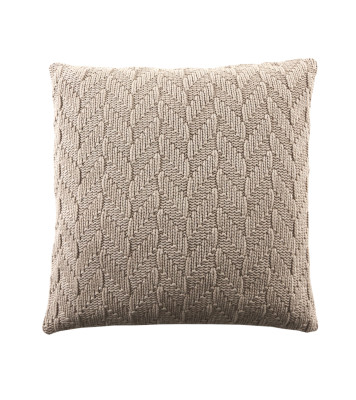 Fishbone Cushion Beige