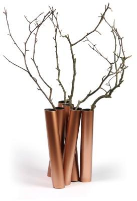 "Flower vase ""Sextette"" Copper"