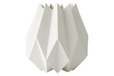 Folded Vase White, High