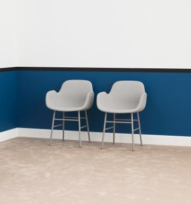 Form Armchair Full Upholstery - Steel Legs Fame 60005