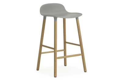 Form Bar Stool Grey & Oak - 65cm seat