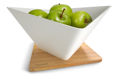 Forminimal Draining Fruit Bowl + Mat White