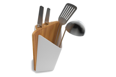 Forminimal Utensil Holder and Board White