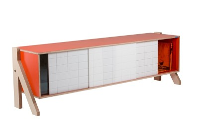 Frame 01 Mid Sideboard Foxy Orange