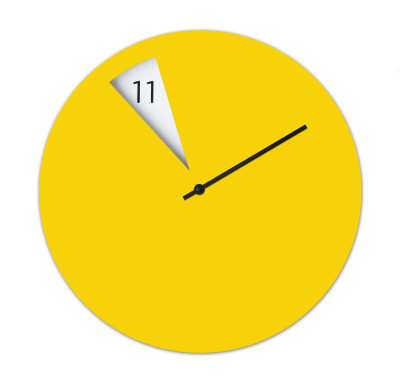 Freakish Wall Clock Yellow