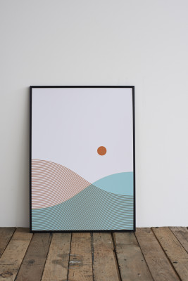 From Land and Sea Screen Print With Frame