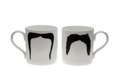 Fu Magnum Moustache Mug Black