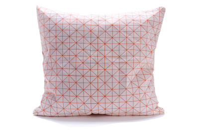 Geo Origami Square Cushion Cover Orange