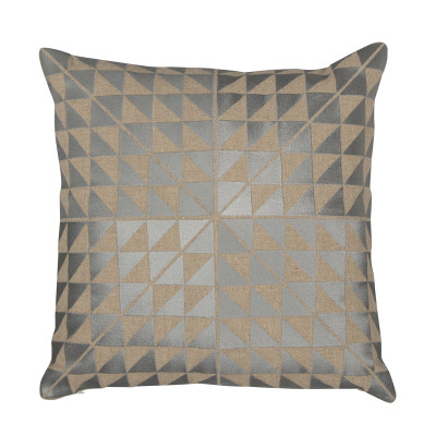 Geocentric Cushion Ash Grey & Natural Linen