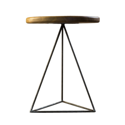 Geometric Table / Stool Iroko