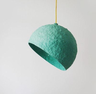 Globe Turuoise paper pulp lamp Globe Turquoise