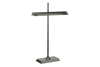 Goldman Table Lamp Black Nikel Body, Fumée Diffuser