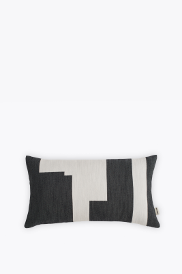 Graphic Rectangular Cushion Black