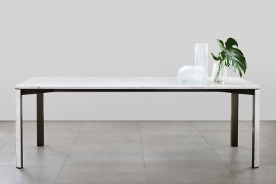"Gregorio Rectangular Dining Table Carrara ""C"""