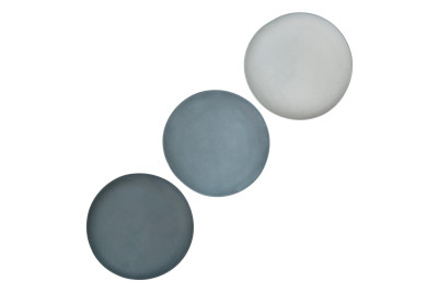 Grey Plate Set of 3