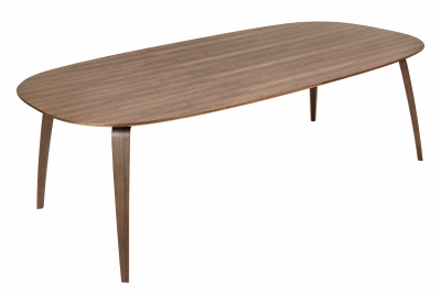 Gubi Elliptical Dining Table Walnut