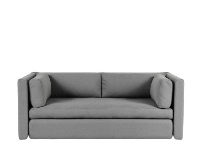 Hackney Carriage 2 Seater Sofa Grey Melange