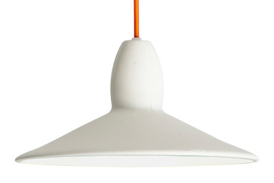 Half Spun Pendant Light White