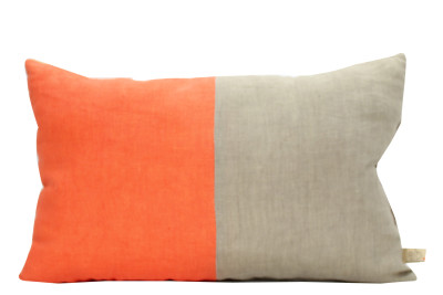 Half Vibrant Cushion Orange, Neutral