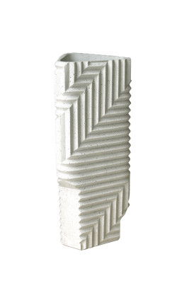 Herringbone Vase Granite