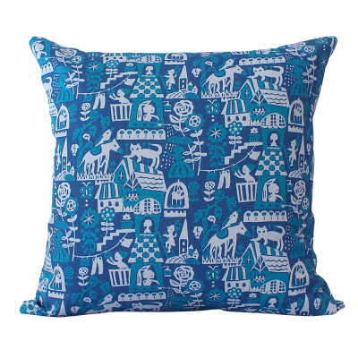 Higgledy Cushion Blue