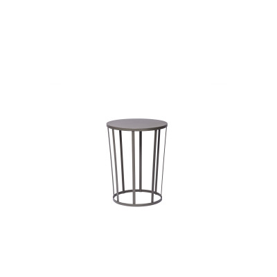 Hollo Stool/Side Table Anthracite Grey
