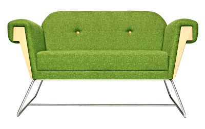 Hove Club Sofa Acre with Steel Legs