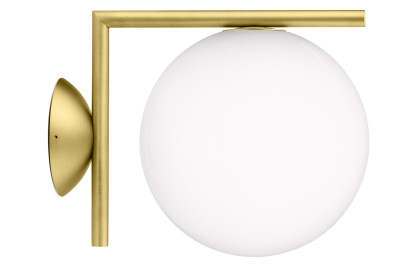 IC Wall Light C/W1, Brushed Brass, Small
