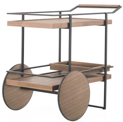James Bar Cart Stainless Steel