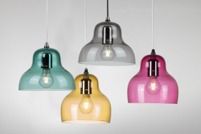 Jelly Wide Pendant Light Grey