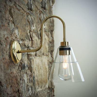 Kairi Swan Neck Wall Light Polished Brass
