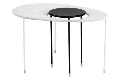 Kangourou Coffee and Side Table Black and White