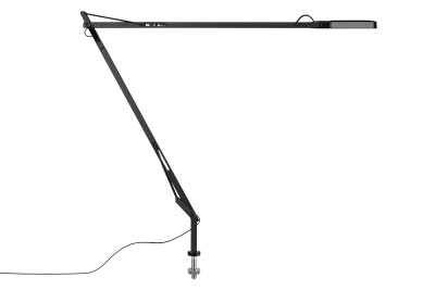 Kelvin Desk-Mounted Lamp with Visible Cable Black