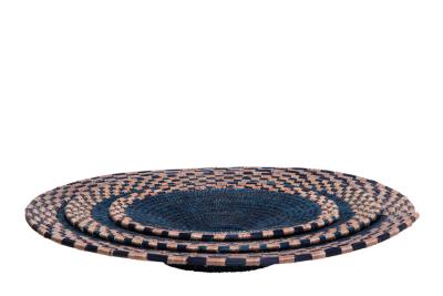 Kikapu Platters Indigo & Dusty Pink