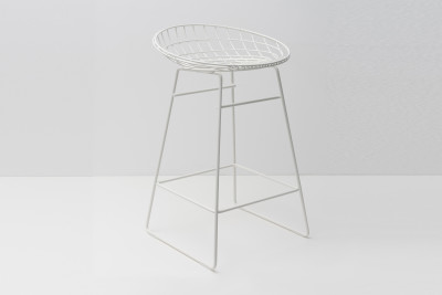 KM06 Kitchen Stool Paper White