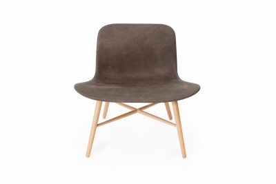 Langue Original Lounge Chair, Natural - Leather Cuoio Brown Tempur Leather
