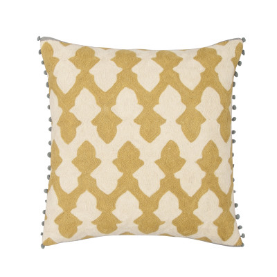 Lattice Cushion Chartreuse & Ecru
