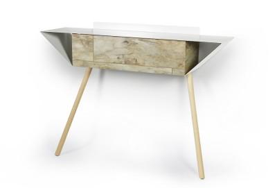 """Leaning sideboard """"Anlehnschrank 02 - Stone"""" Black beech wood legs"""