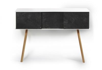 """Leaning sideboard """"Anlehnschrank LS-01 - Slate"""" Black beech wood legs"""